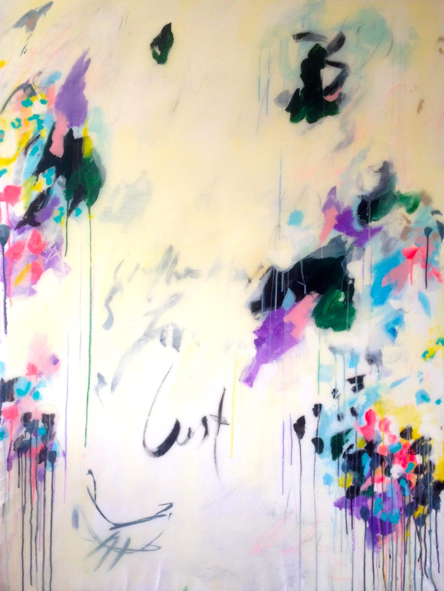 Lust, acrylic & epoxy finish