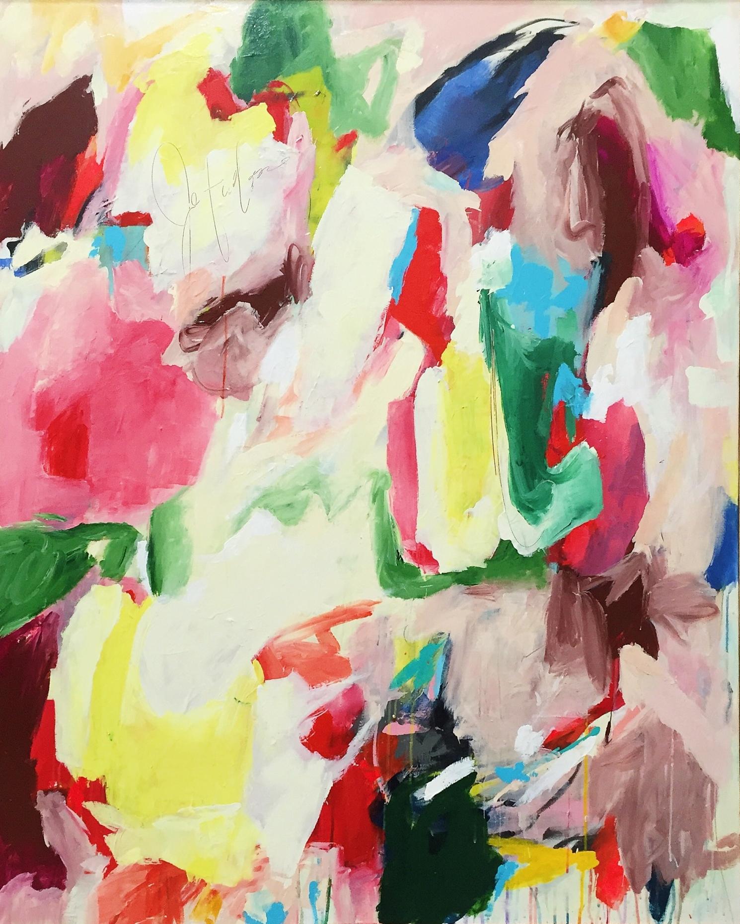 Willem, acrylic & mixed media