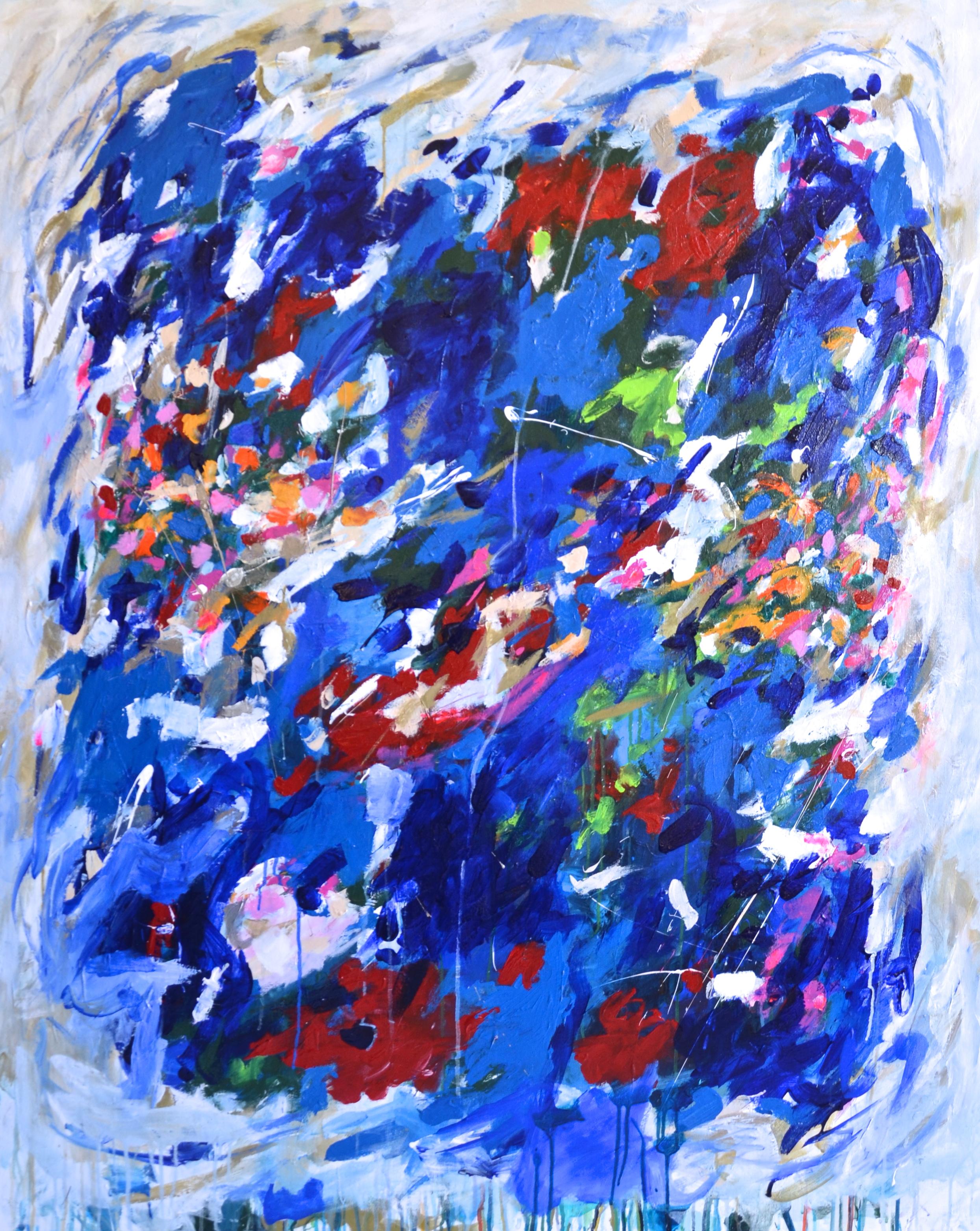 Blue Mitchell, acrylic & mixed media