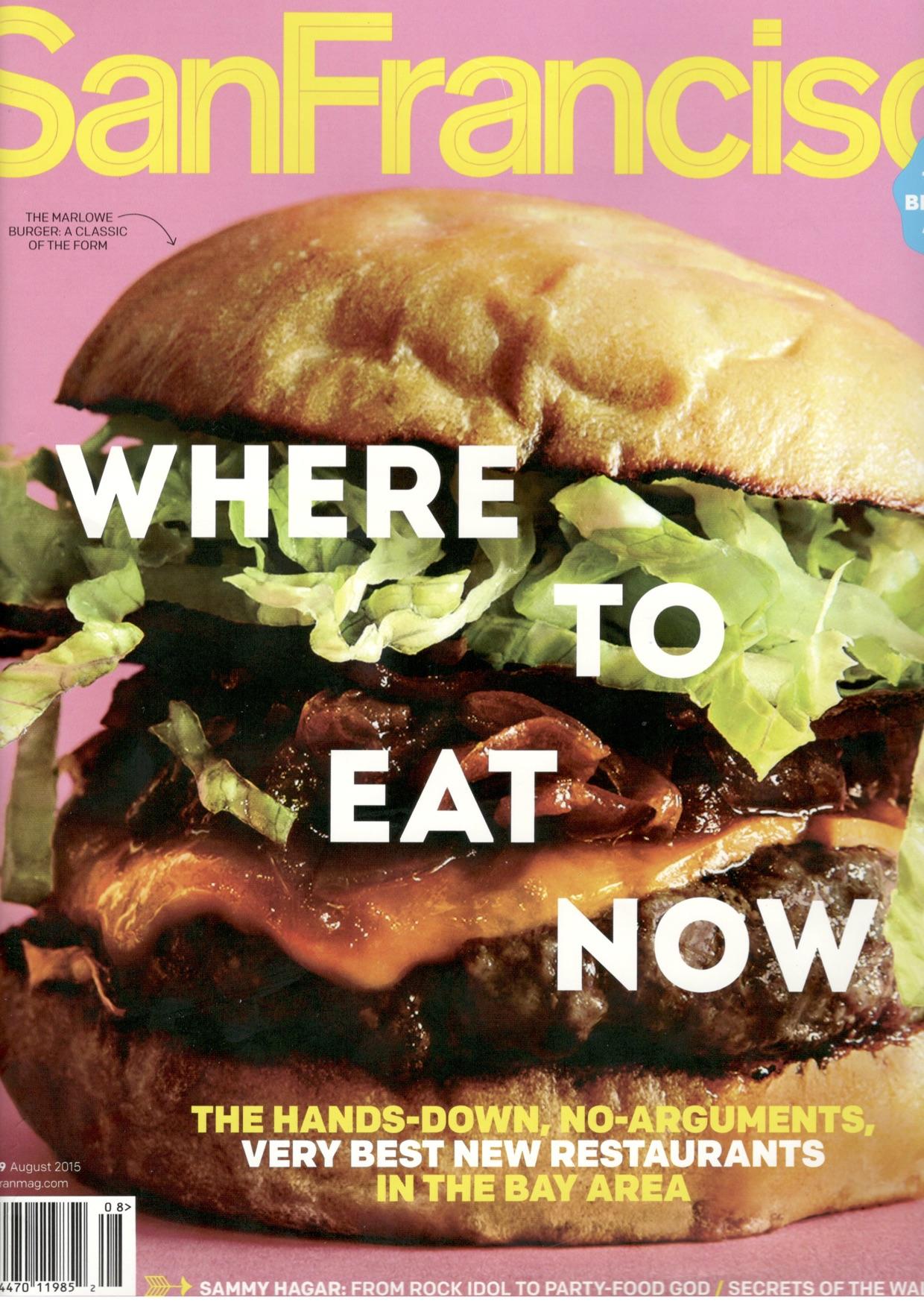 Marlowe - Burger on cover of SF Magazine August 2015.jpg