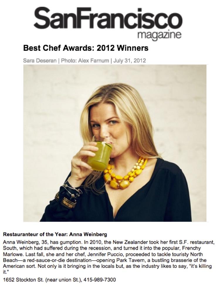 Anna Weinberg - SF Magazine Restaurateur of the Year, 2012.jpg