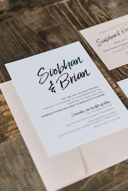 Siobhan + brian : chic + modern