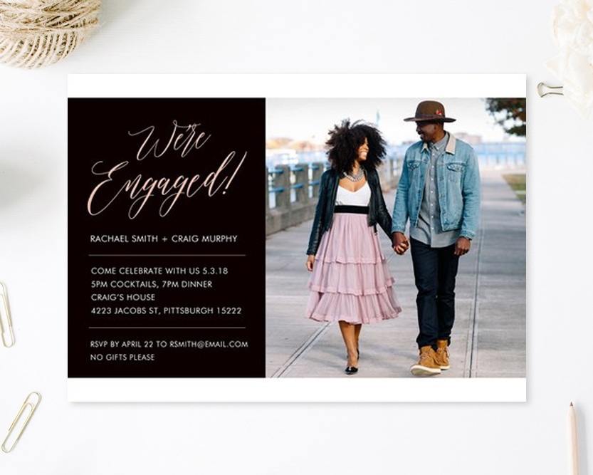 Engagement Party Invitation, Simply to Impress