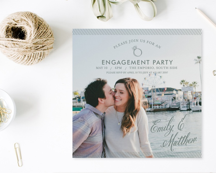 Simple Celebration Engagement Party Invitation, minted