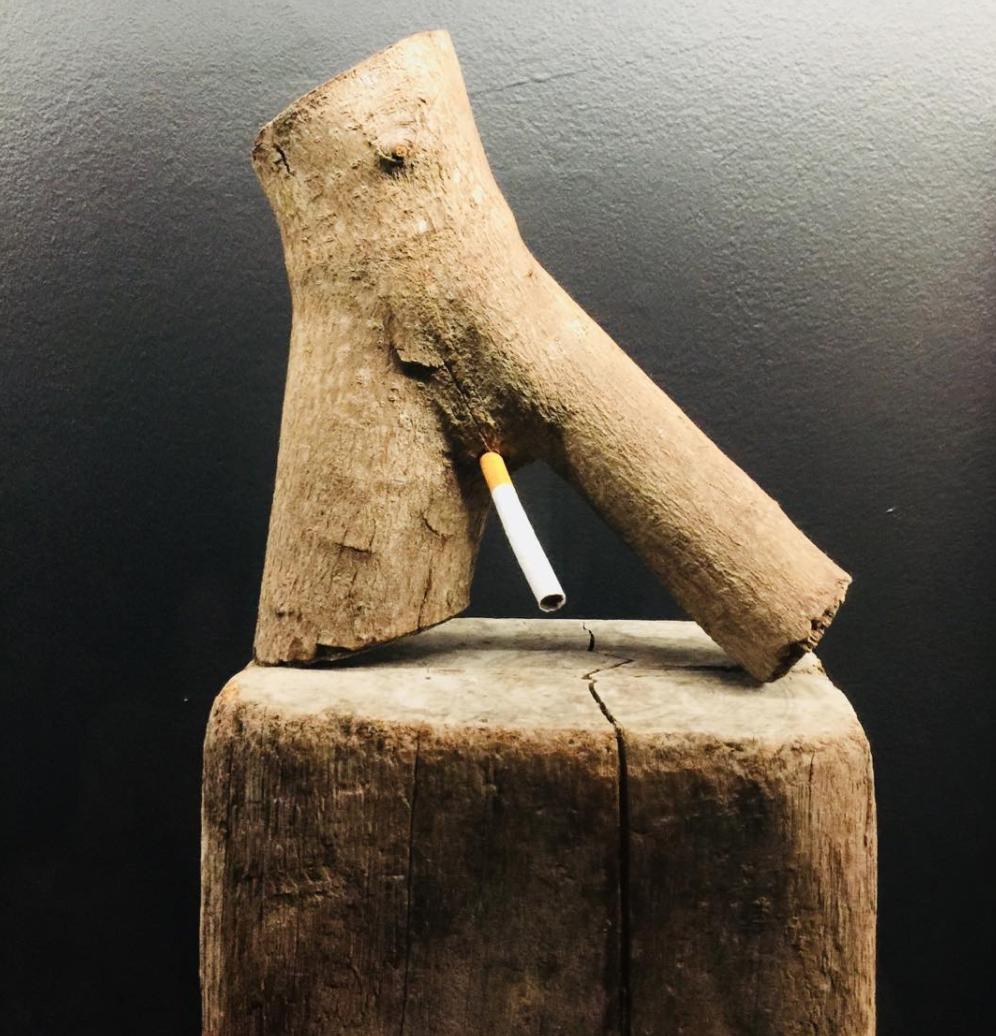 Smoking cock.