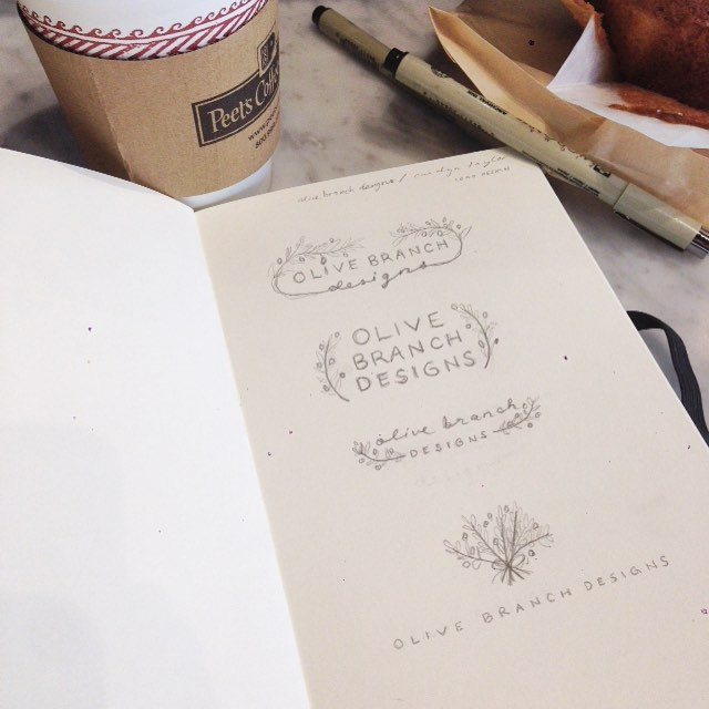 Lattes and logo concepts! This is my kind of Saturday. 😊  #logo #design #graphics #graphicdesign #peetscoffee #sketch #pencil #art #create #coffee #smallbusiness #office #branding #entrepreneur #caffeine