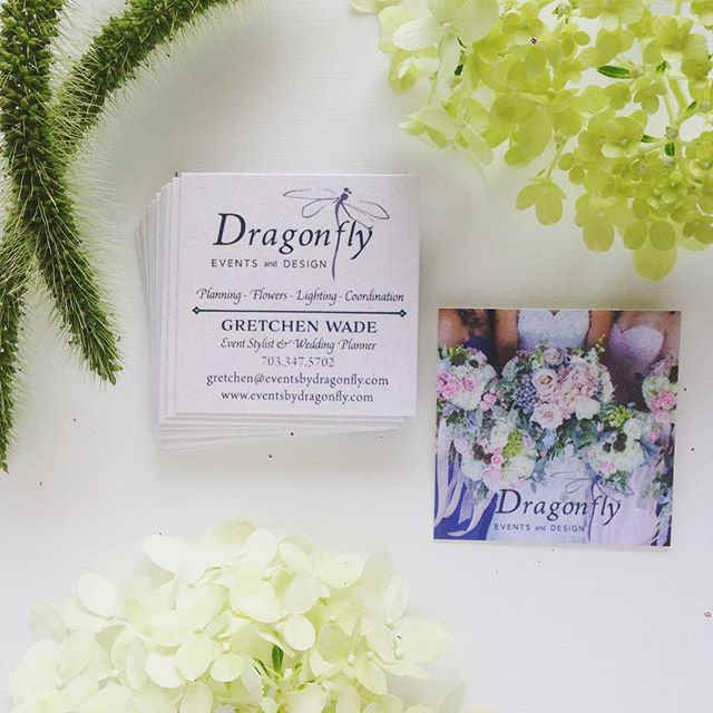 Just finishing up some pretty luxe double-sided mini business cards for my favorite event planner and friend Gretchen @dragonflygw! She is behind the most stunning events and does just about everything. 😊 #businesscards #vaweddings #dcweddings #graphicdesign #weddingplanners #printdesign #printing #papergoods #paper #florals #decor #engaged #eventplanners #design #pretty #smallbusiness #eventplanning #dcbrides #vabrides #bridalbouquet #bouquet #flowers #floralarrangements #manassas