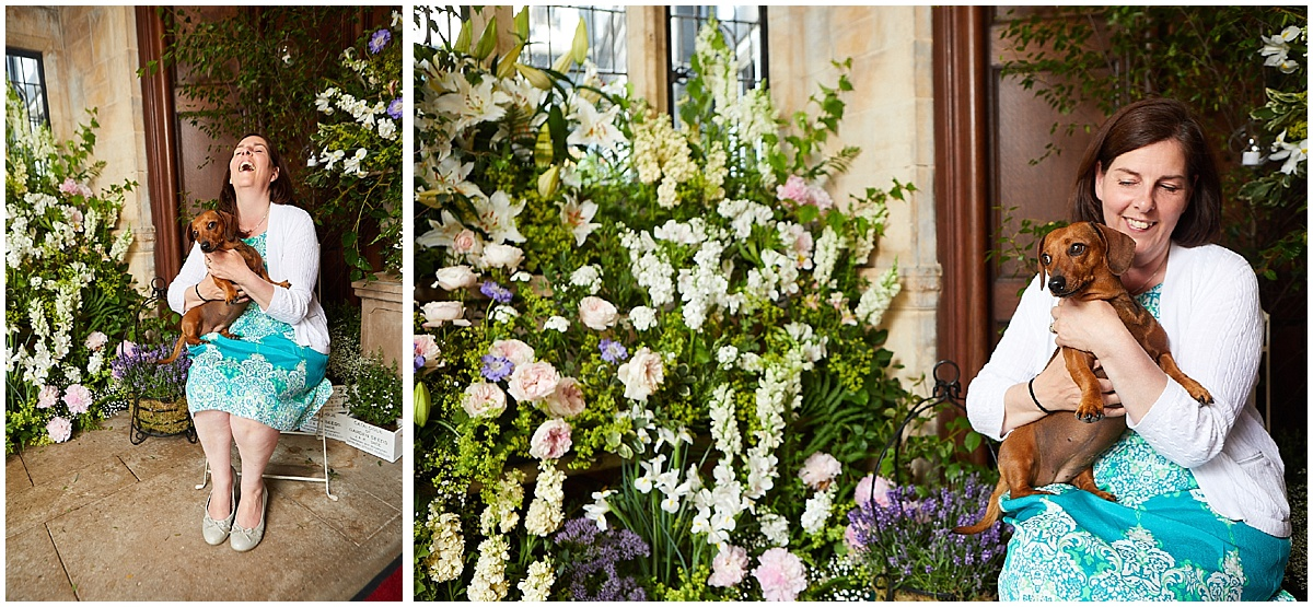 Shirly Dee from S & A Floral Design with her stunning design at The Petwood Hotel Woodhall Spa.