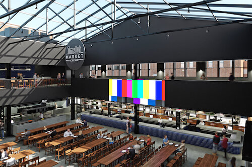 Rendering of the upcoming Time Out Market Chicago