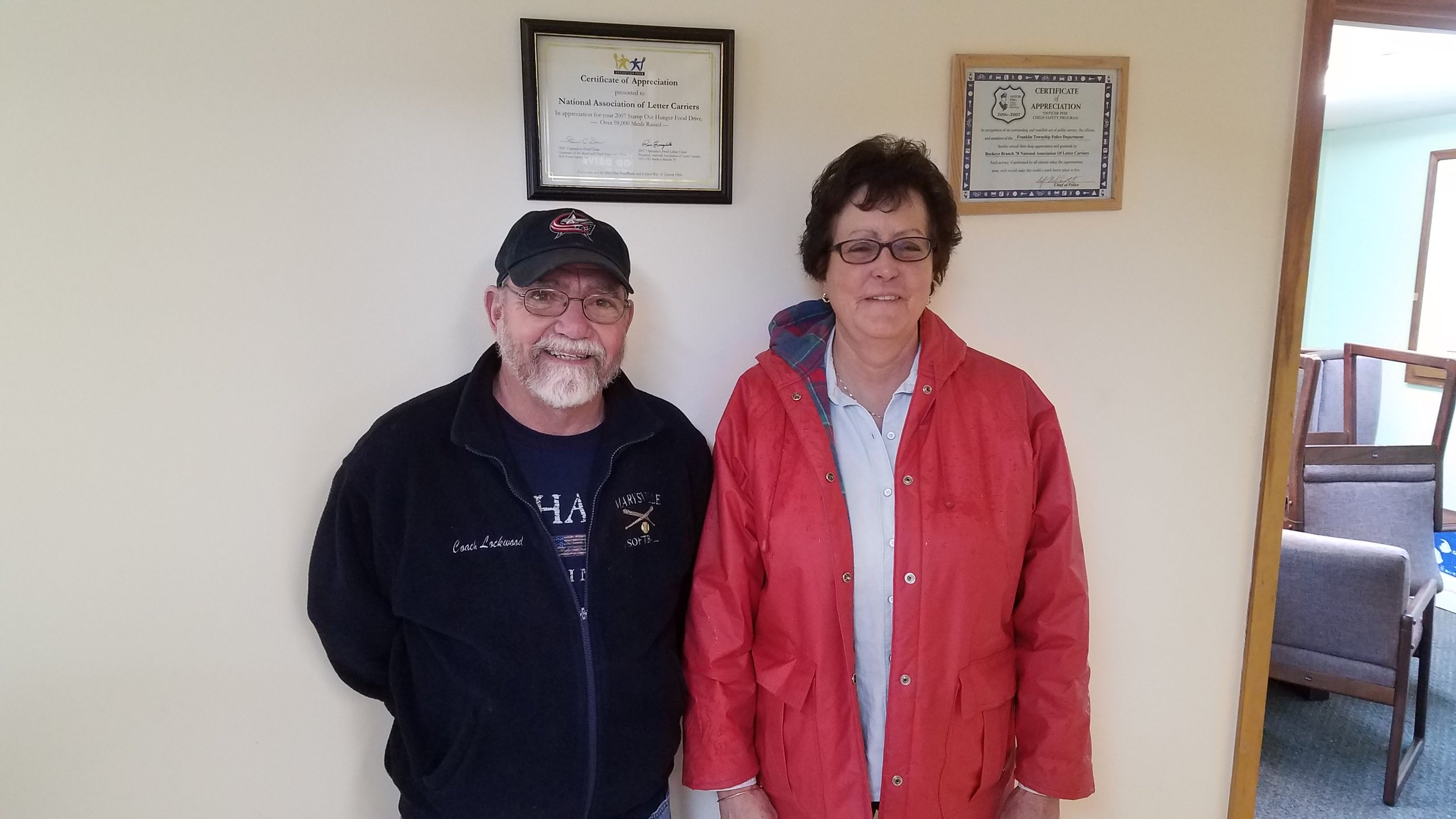 Retiree Jim Lockwood and Newly retired Letter Carrier Cathy Williams from Marysville.