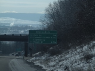 The two images above are of the Keystone Sanitary Landfill as seen from the Interstate 81 South.