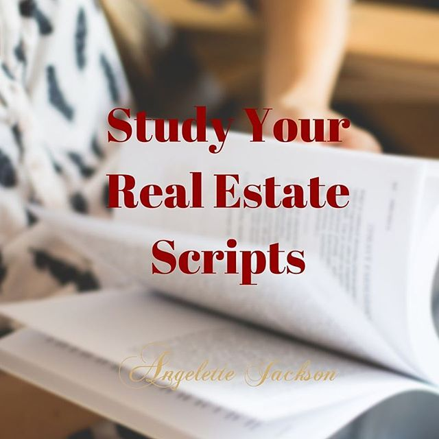 Good morning Realtors one great way to grow your real estate business is to stay prepared. It's fantastic way to stay prepared is to study your real estate Scripts.  The more tips and tricks on growing your real estate business join my VIP go to bit.ly/rebiztips