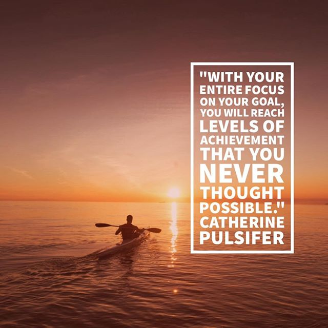 Happy Sunday!  Focusing entirely will take you places you never imagined. It's worth the effort!