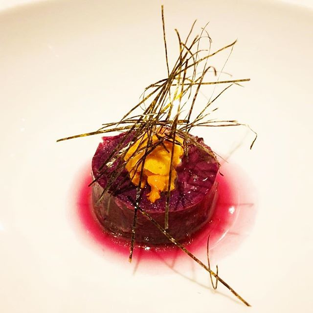 Purple Japanese Sweet Potato, Uni #seegersimplicity #onethemenu