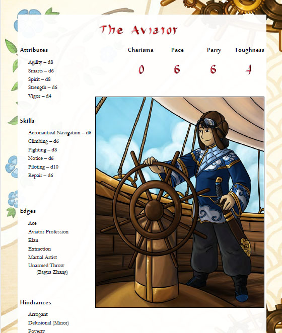 One of the several new example characters introduced with chapter 6.