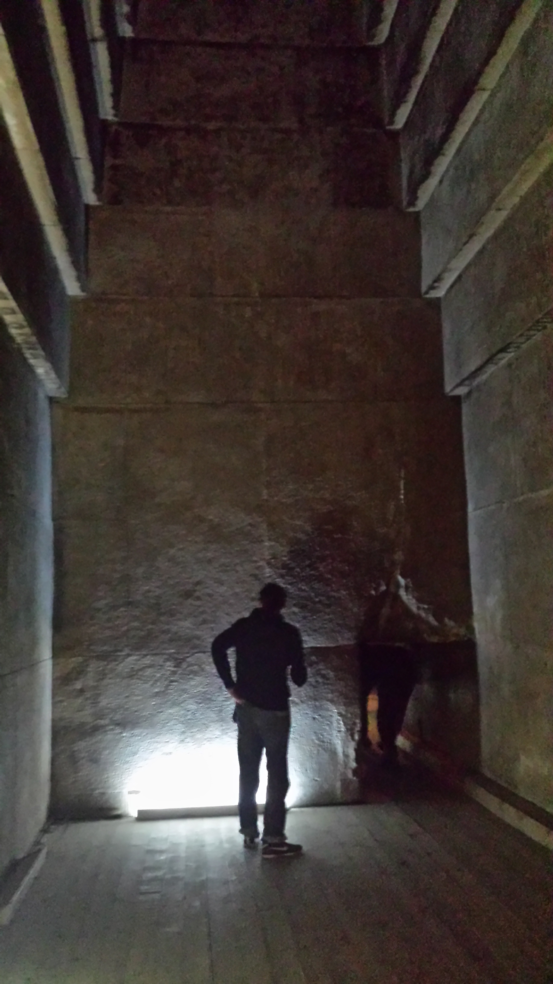 Inside the red pyramid.