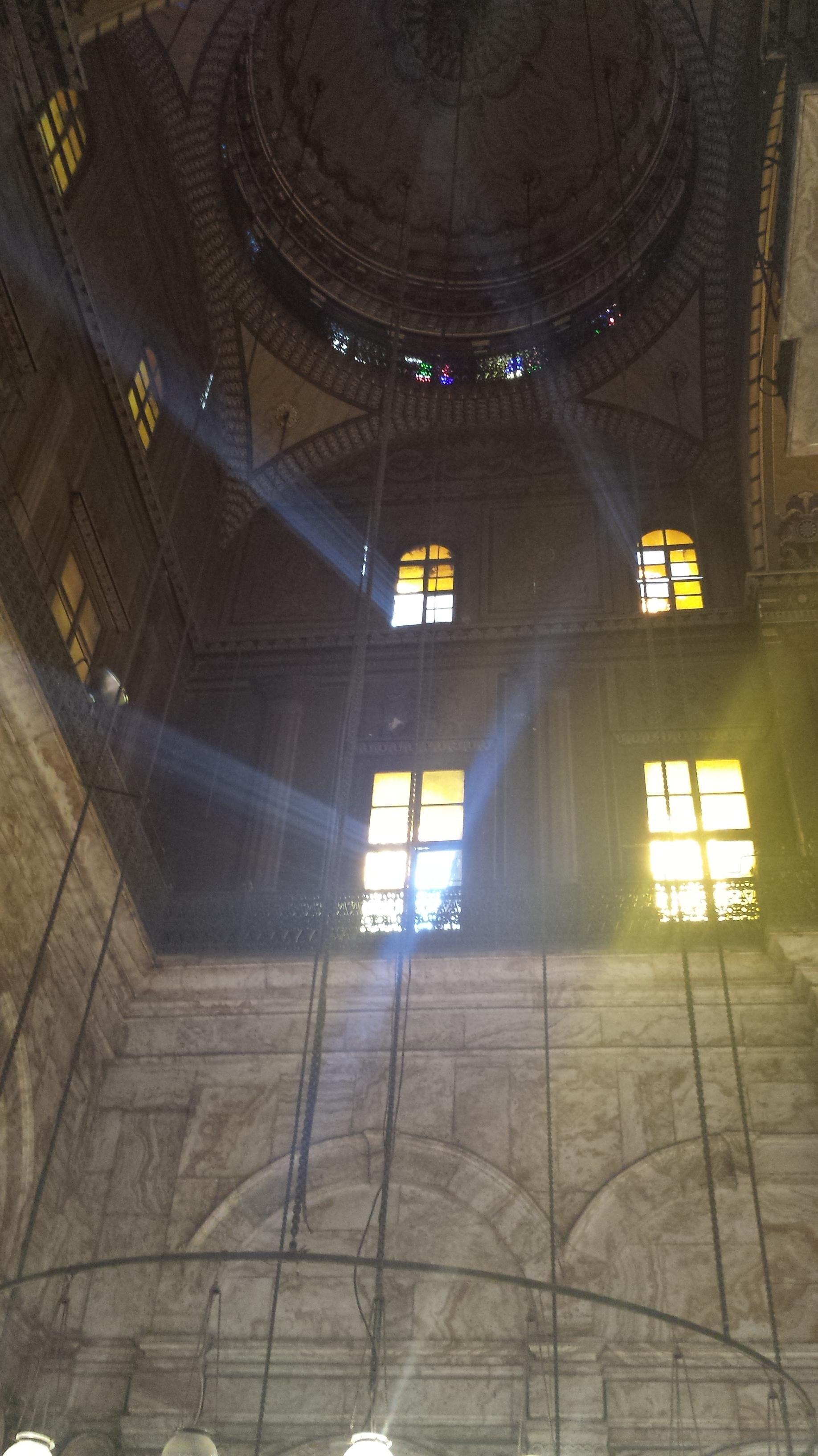 Inside t he Mosque of Muhammad Ali.