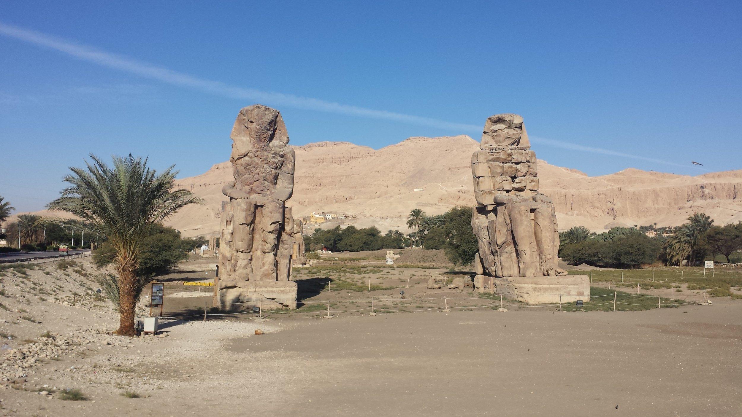 The Colossi of Memnon.