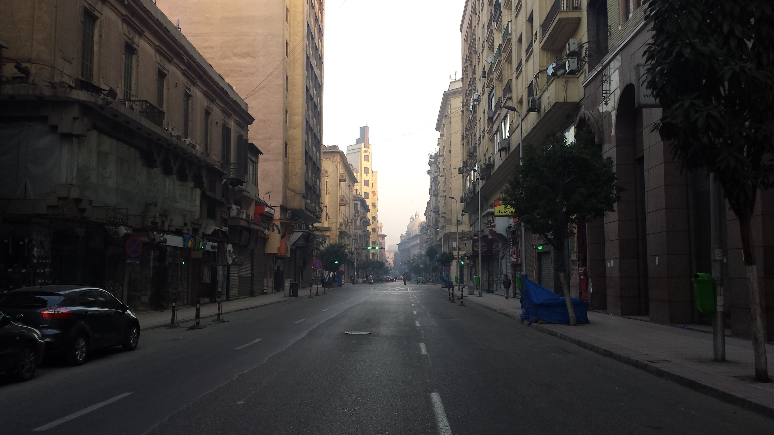 Morning in Cairo, and all the lights are green.