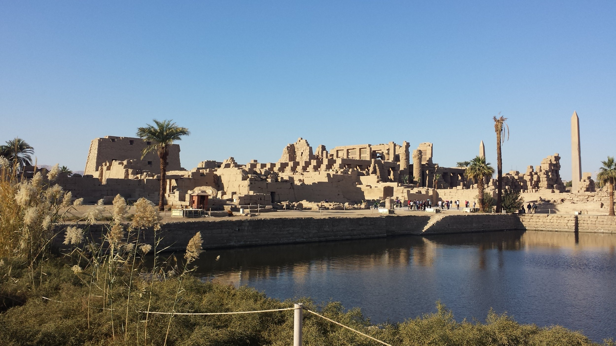 A look at Karnak from the pool on its back side.