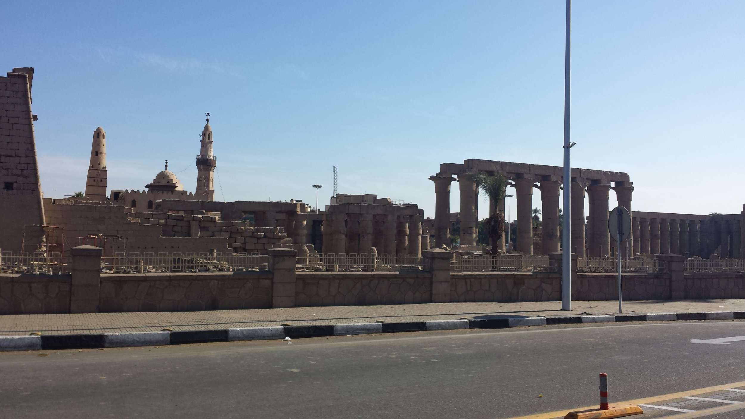Luxor temple from the outside.