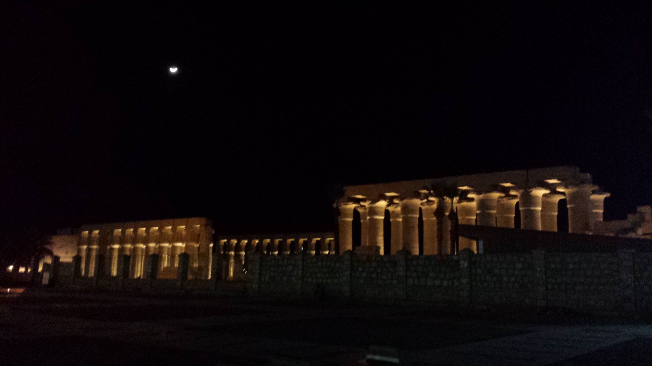 Luxor temple lit up on the night we left.