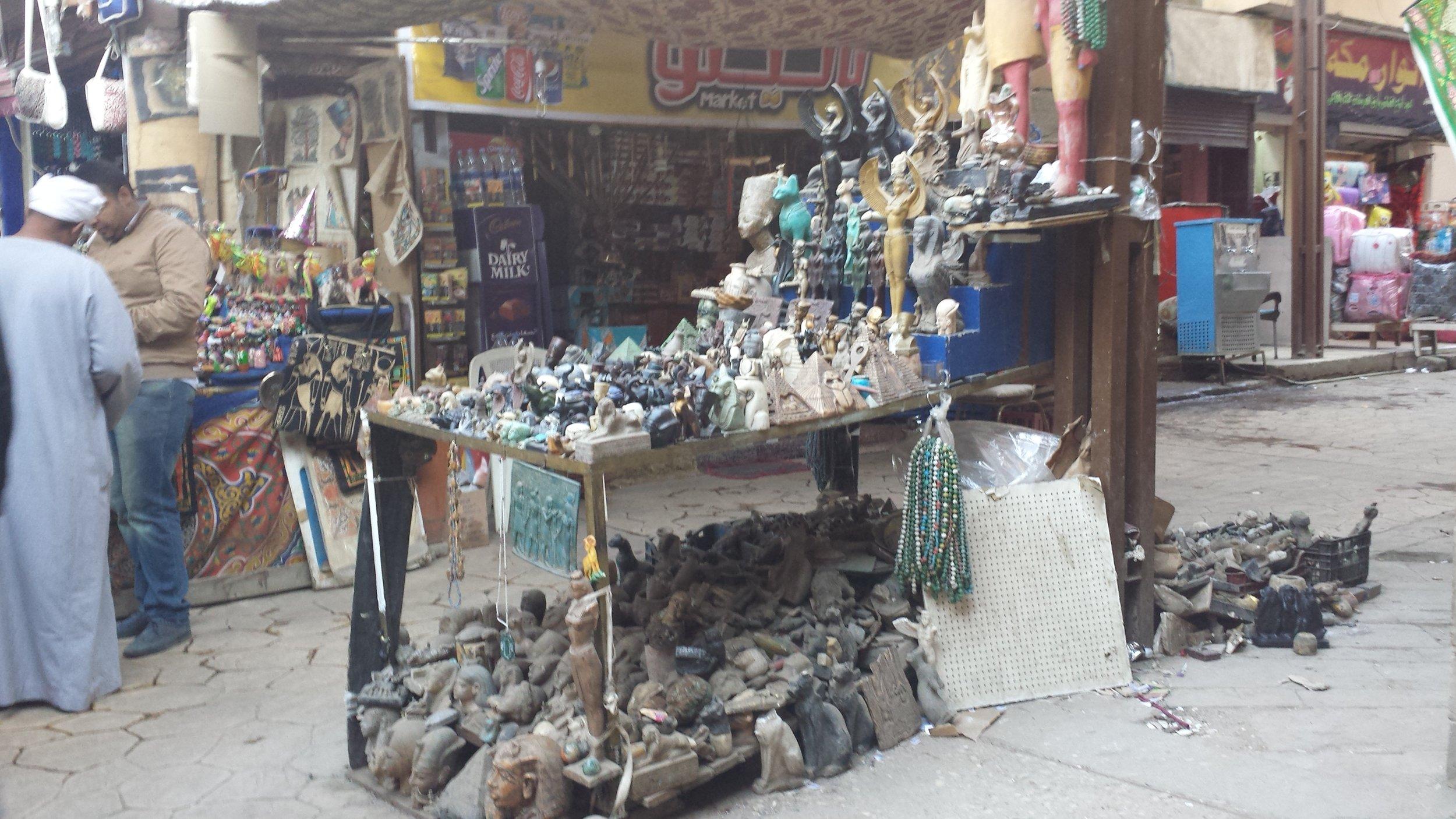 Stalls at the Luxor bazaar.