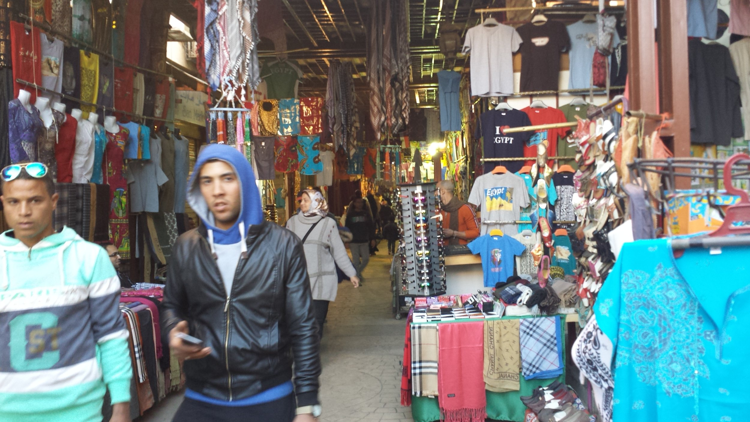 This is actually a picture of Luxor's bazaar, but its crowded enough to give you an idea of what Khan Al-khalili is like.