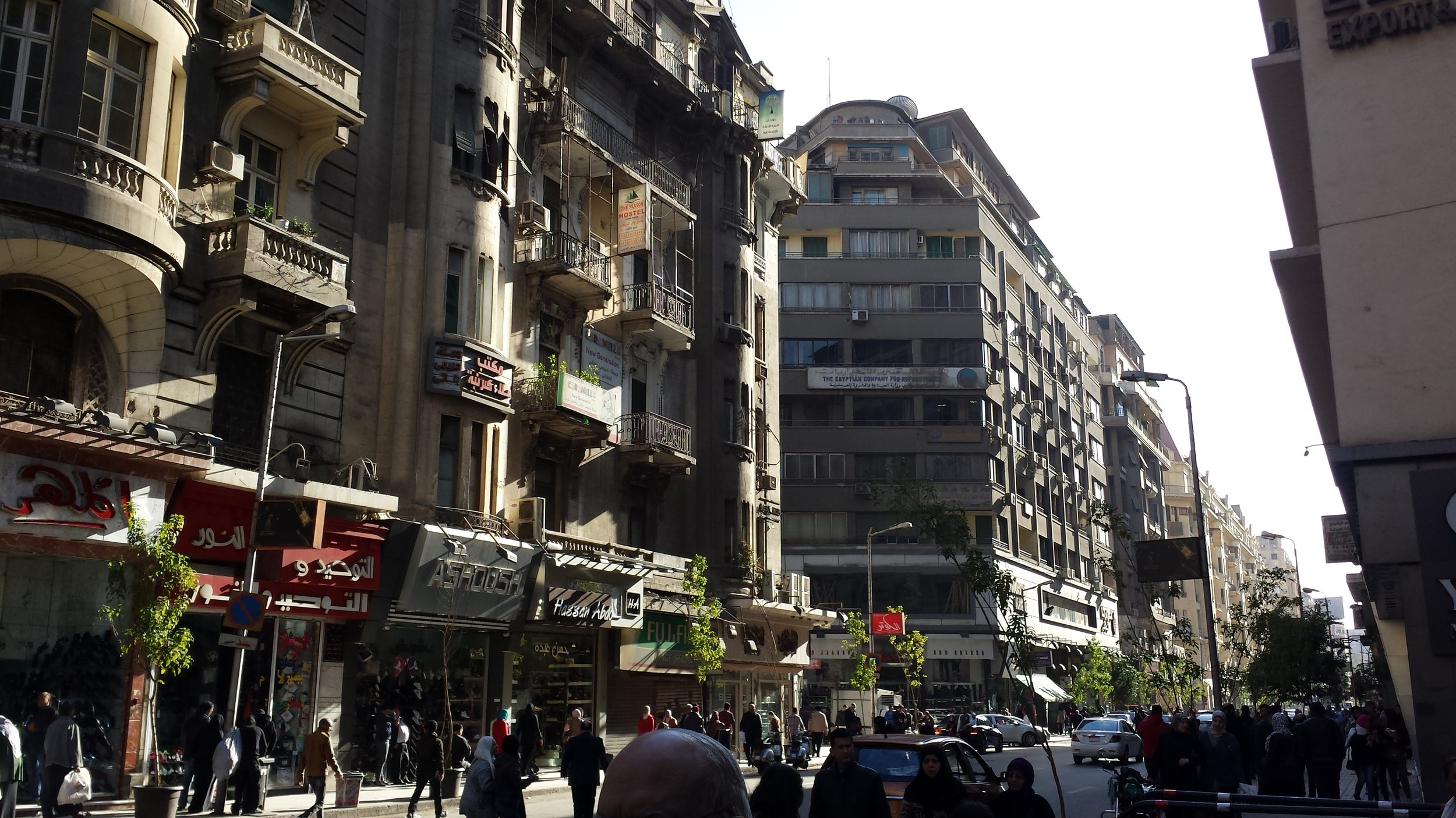 And then there are other streets in Cairo that don't have those vendors.