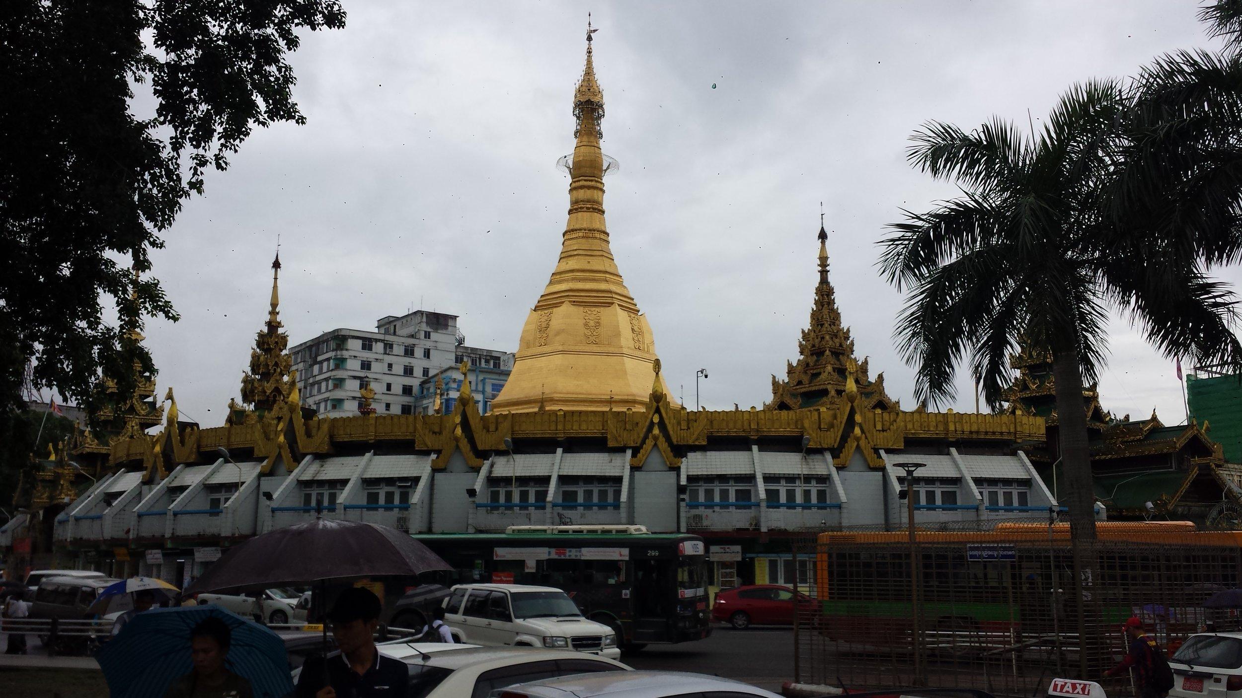 Botataung Pagoda in Yangon, Myanmar.