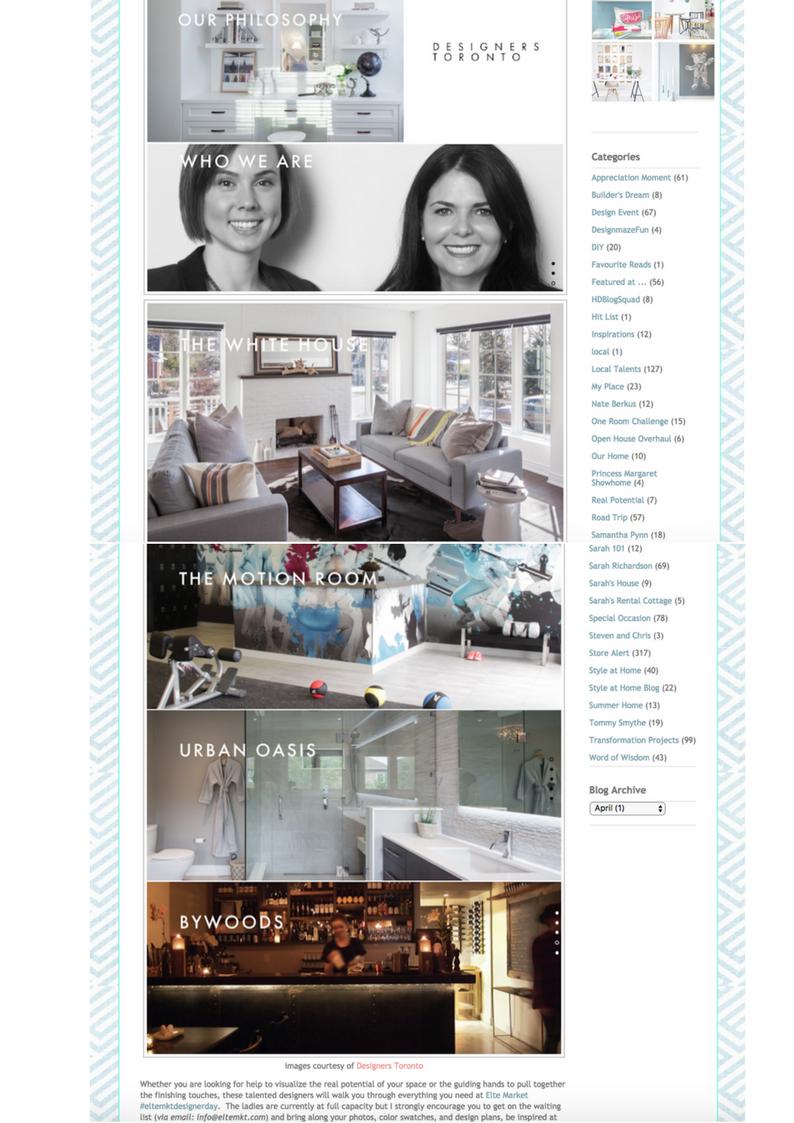 Designer's Toronto Online Feature