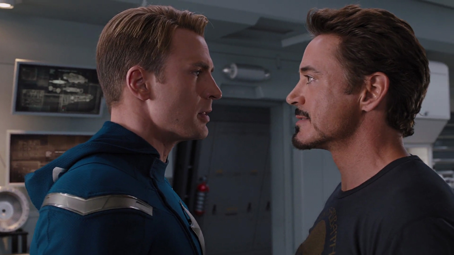 Cap has such a visible wig line in this movie. It's super distracting.