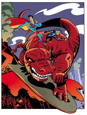 Mitchell immediately called him on Superman being a DC and Devil Dinosaur being a Marvel.