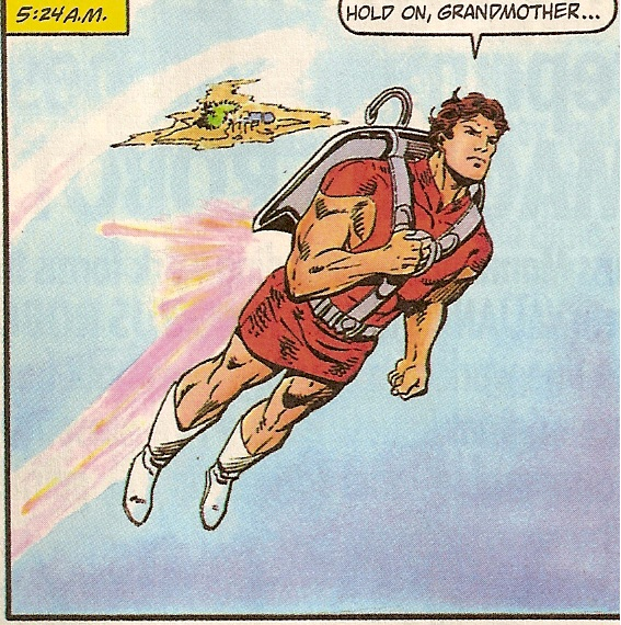 "From the exciting ""Jetpack to Grandma!"" issue!"