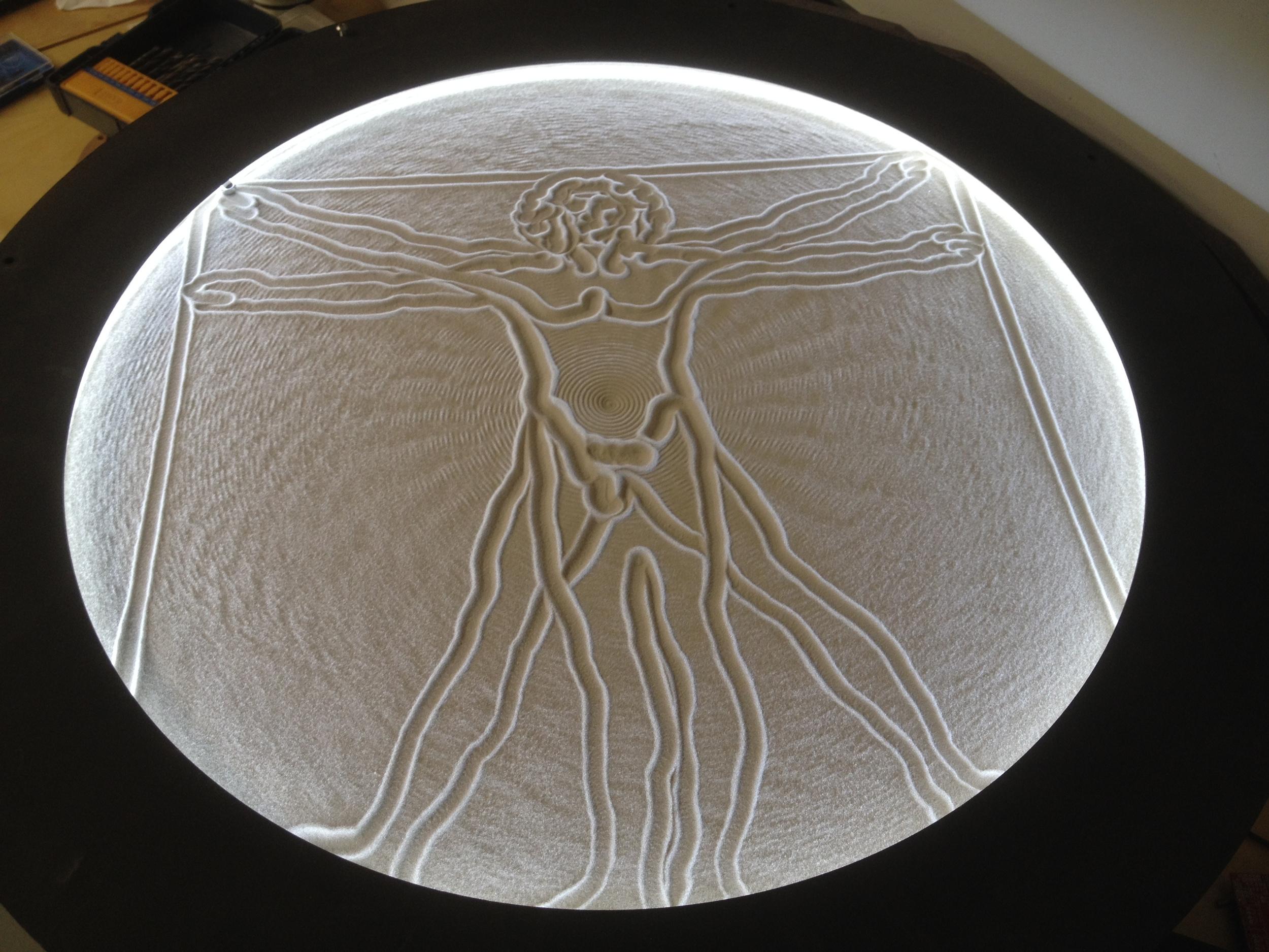 "Da Vinci's Vitruvian Man- 23"" diameter"