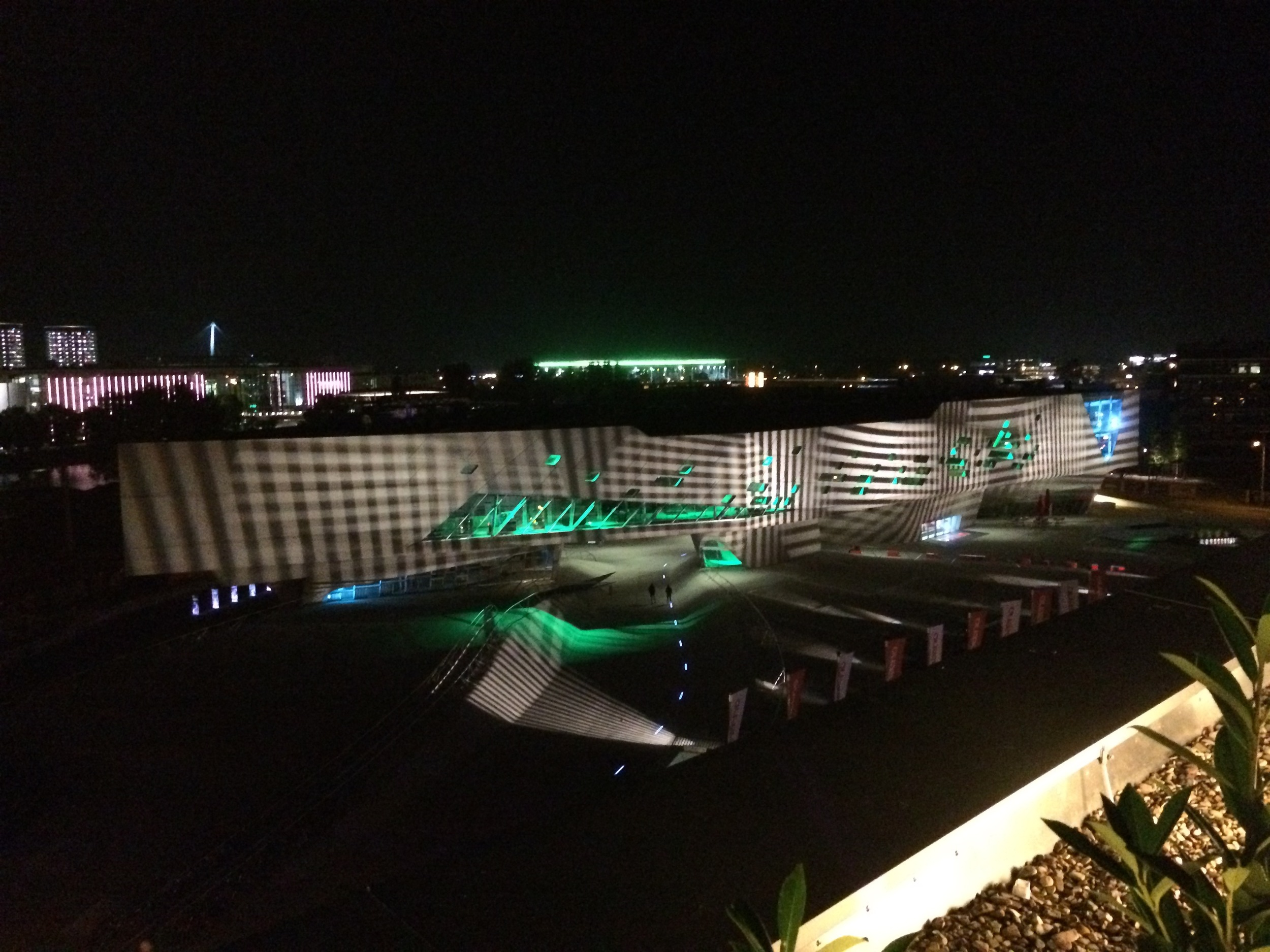 view of Phaeno from our hotel roof