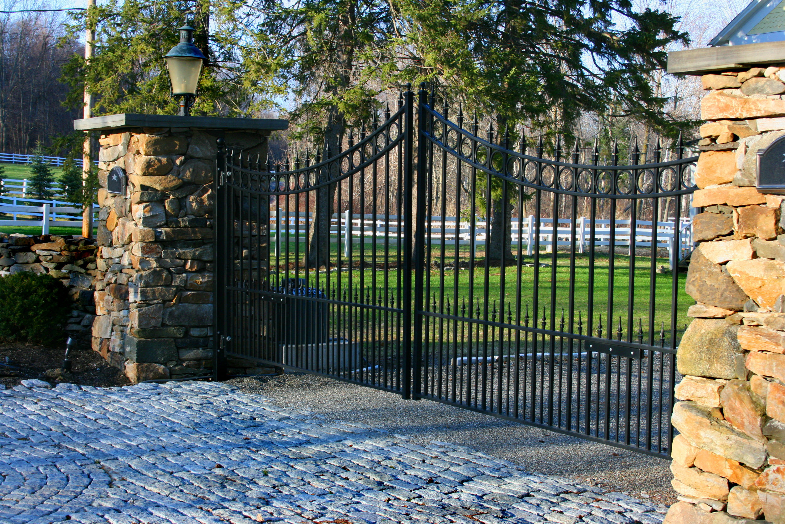 Gated entry.
