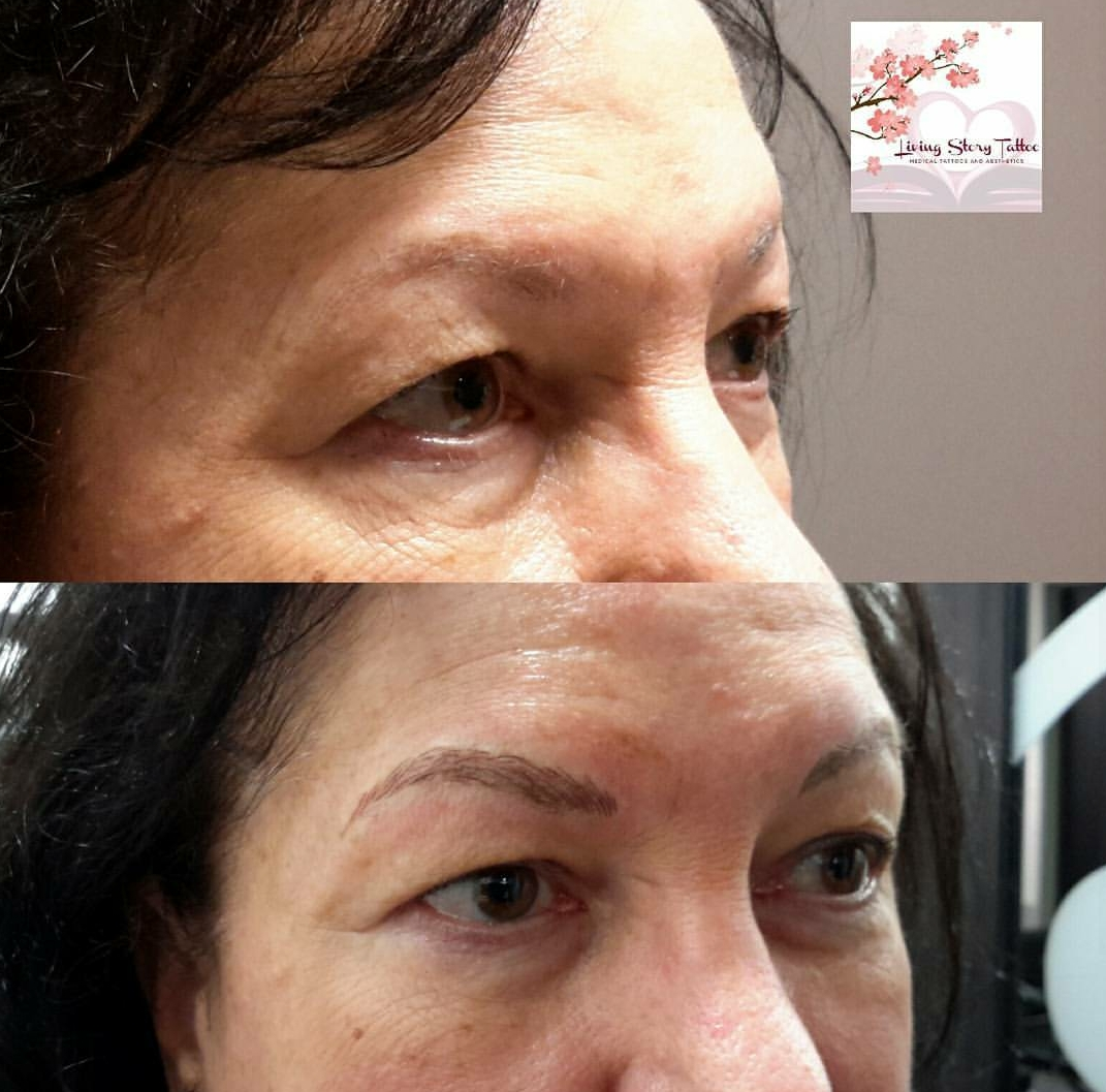 Microbladed Eyebrows Side-View