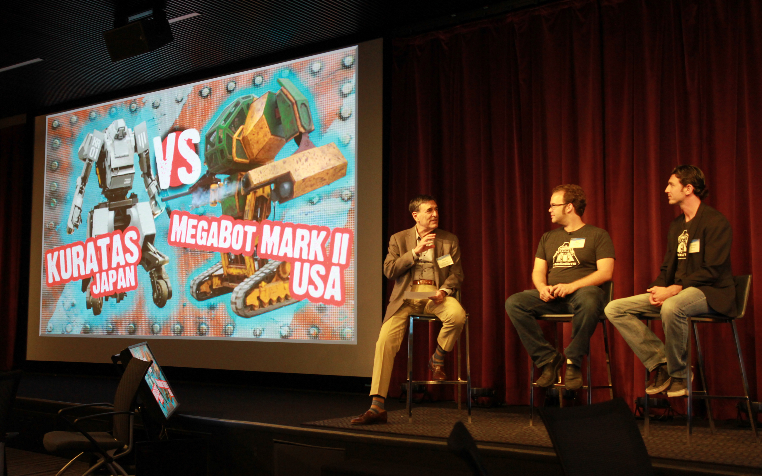 Creating a Giant Robot Fighting League Gui Cavalacanti and Brinkley Warren, Megabots moderated by Mike Kwatinetz, Azure General Partner