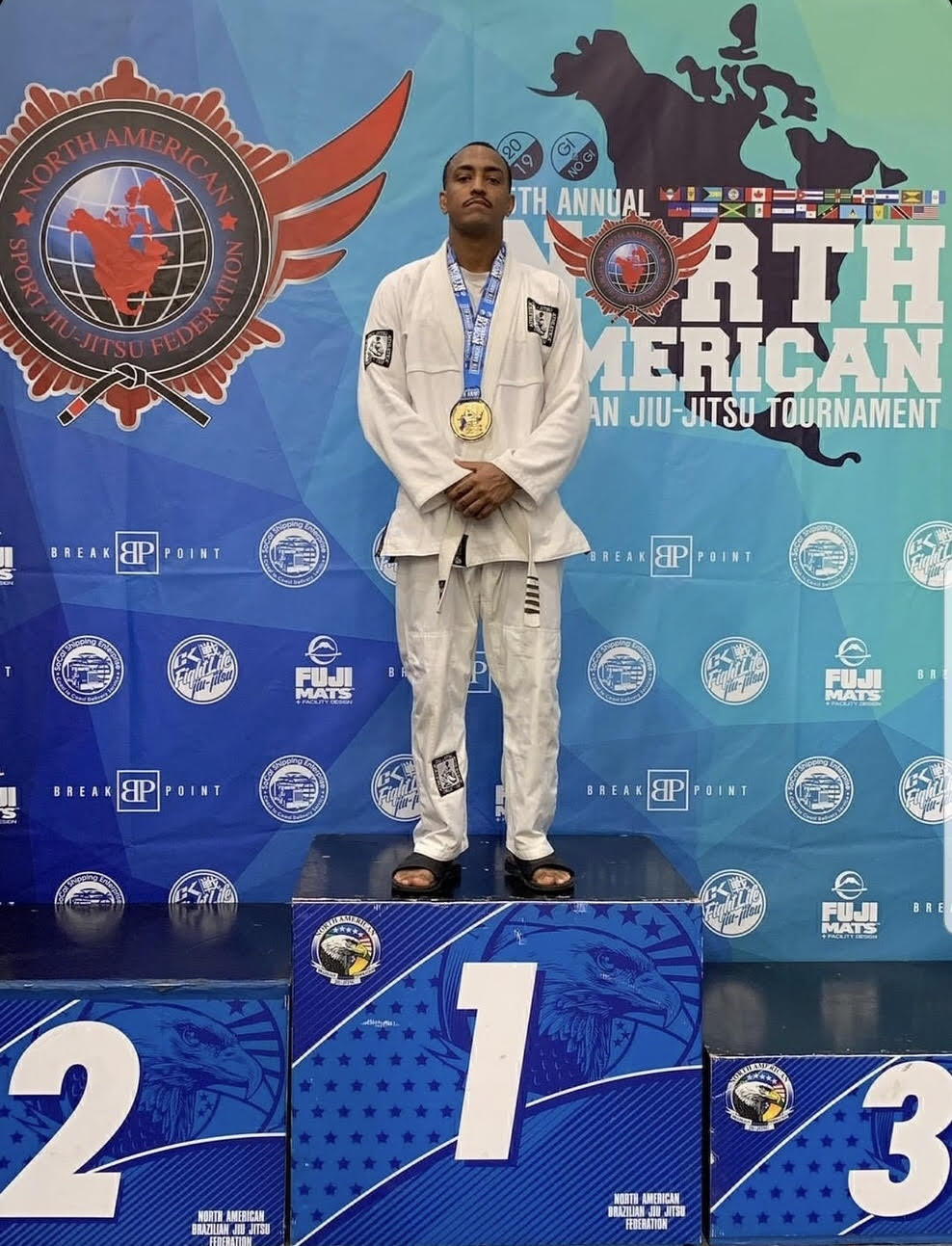 Sterling Ingram goes 4-0 with 4 submissons, taking 1st Place in his division at the 15th Annual NABJJF Tournament.