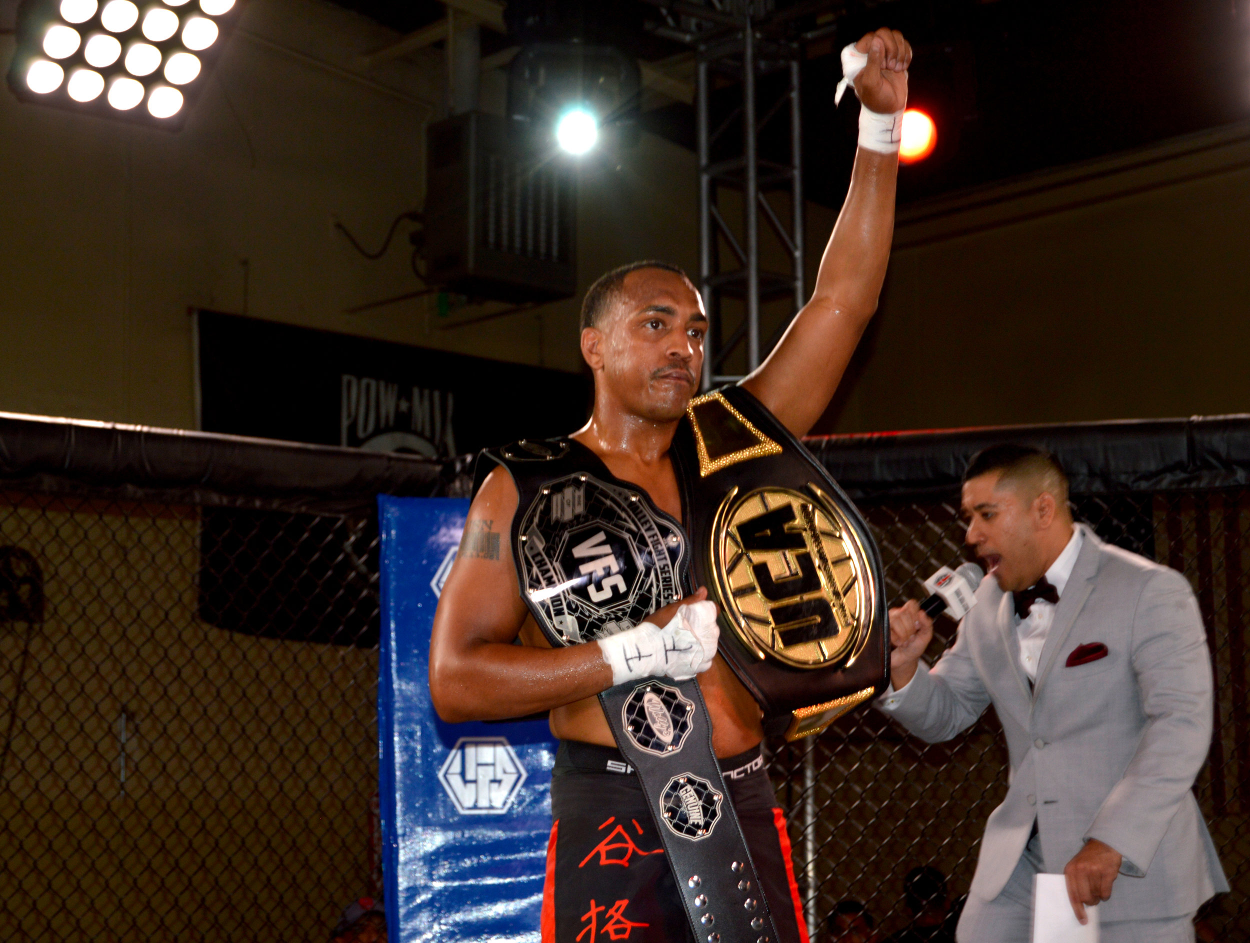 """Sterling """"Money"""" Ingram becomes double-champion, capturing the VFS Lightweight Title and remaining undefeated"""