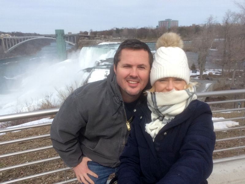 Freezing our faces off at Niagara Falls!