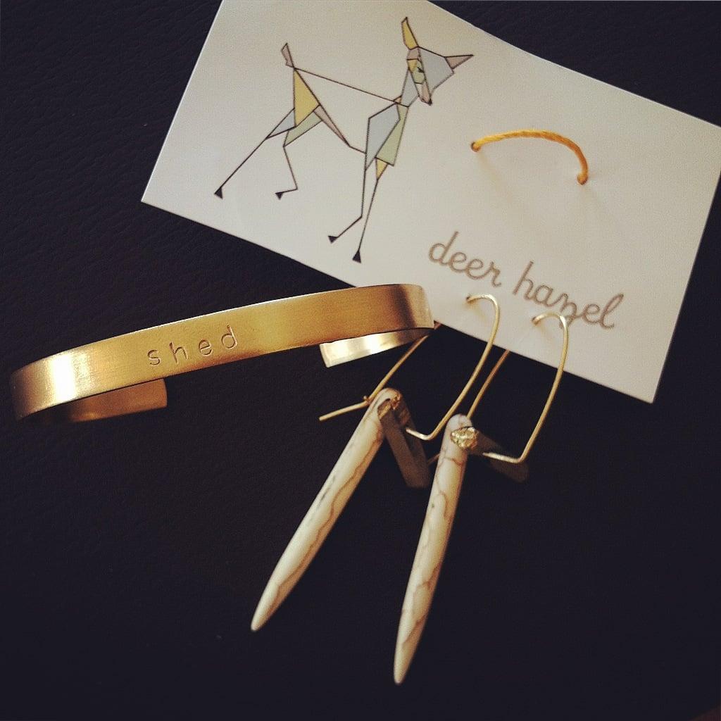 handmade jewelry from my dear friend, Kerry Andrews, of  deer hazel