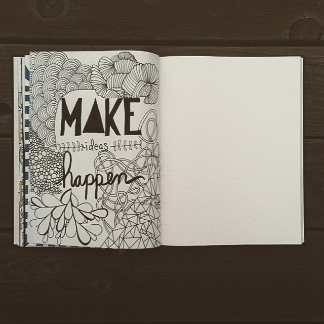 My journal :: I center myself at every AA meeting I attend by drawing in my journal. It helps to keep me in my seat, when every molecule in my body wants to bolt for the door.