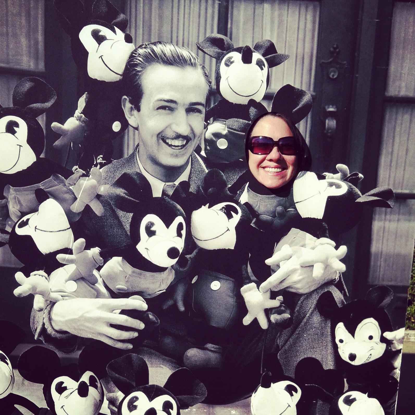 Me + Walt at The Walt Disney Museum in San Francisco (way more my speed!)