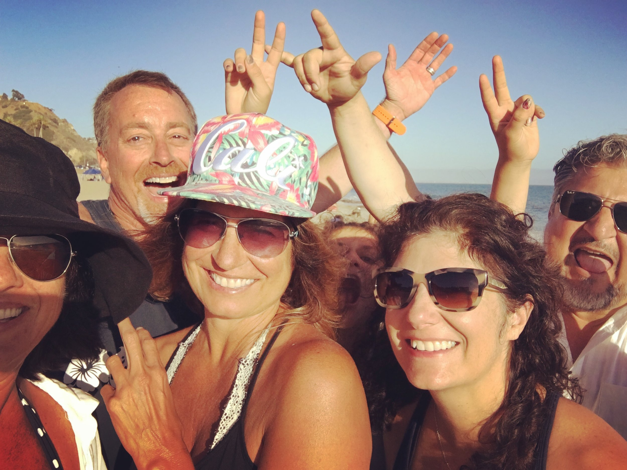 L-R: Me, Scott, Kacy, Sophia, Stephanie + Bert Pacific Palisades, CA - July 2016