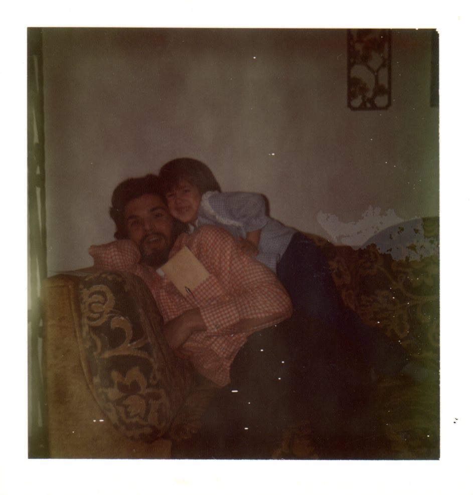 My favorite Uncle Bobby + 4 year old me + that awesome couch