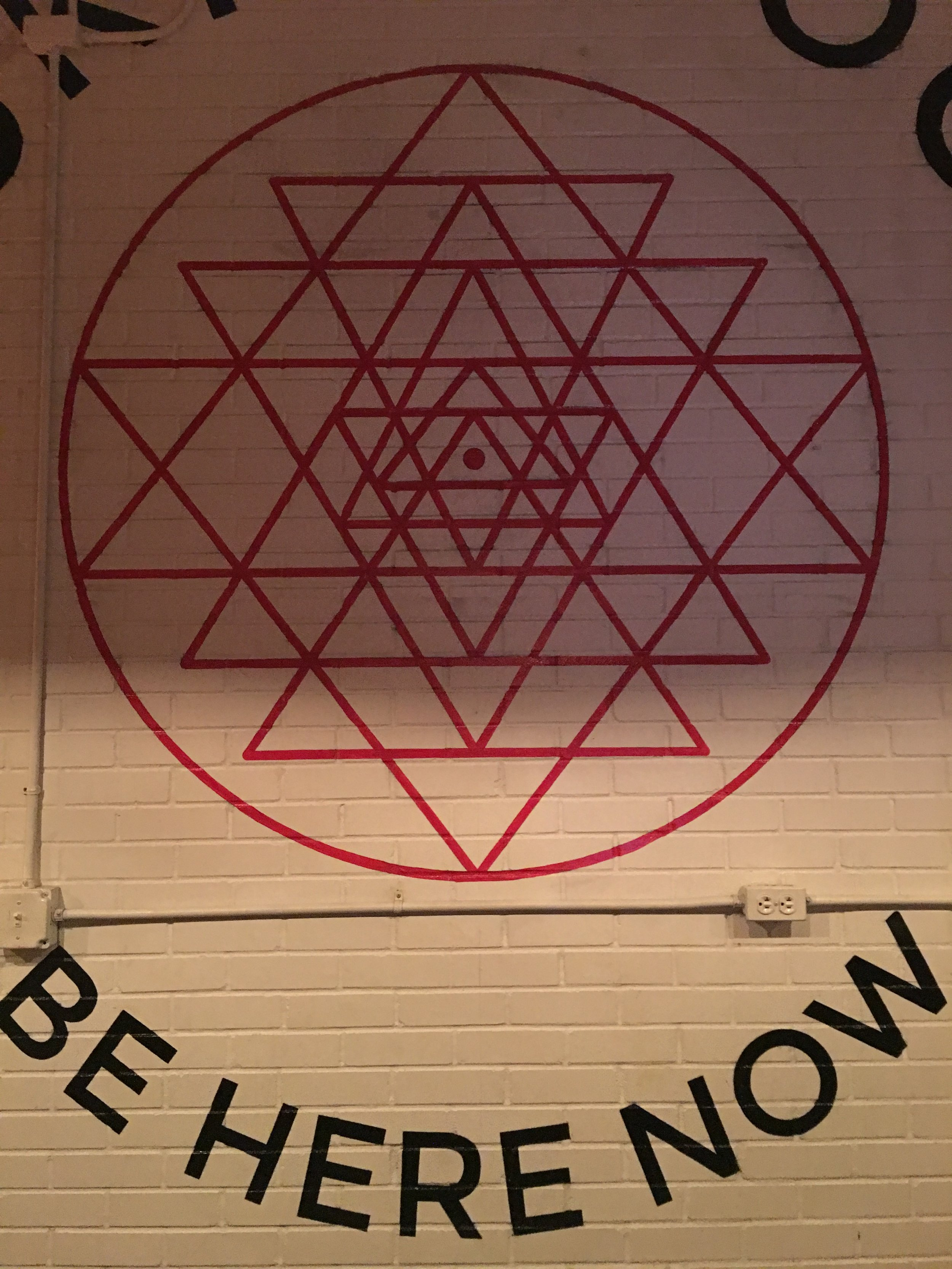 The exquisite wall art at  Sukha Yoga Austin  where I took a yoga for recovery class with my teacher + friend,  Laura McKowen