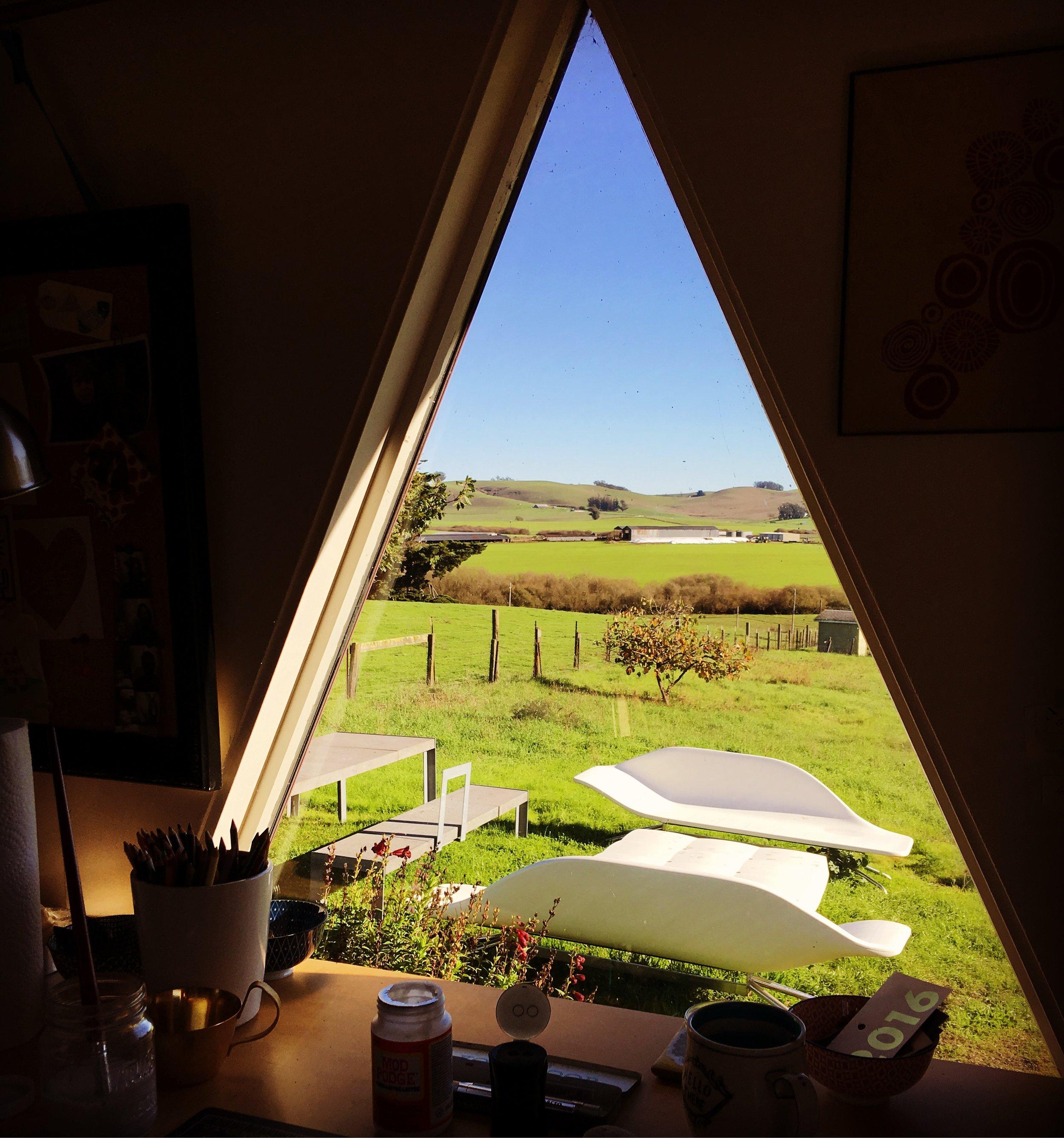 View from my studio desk