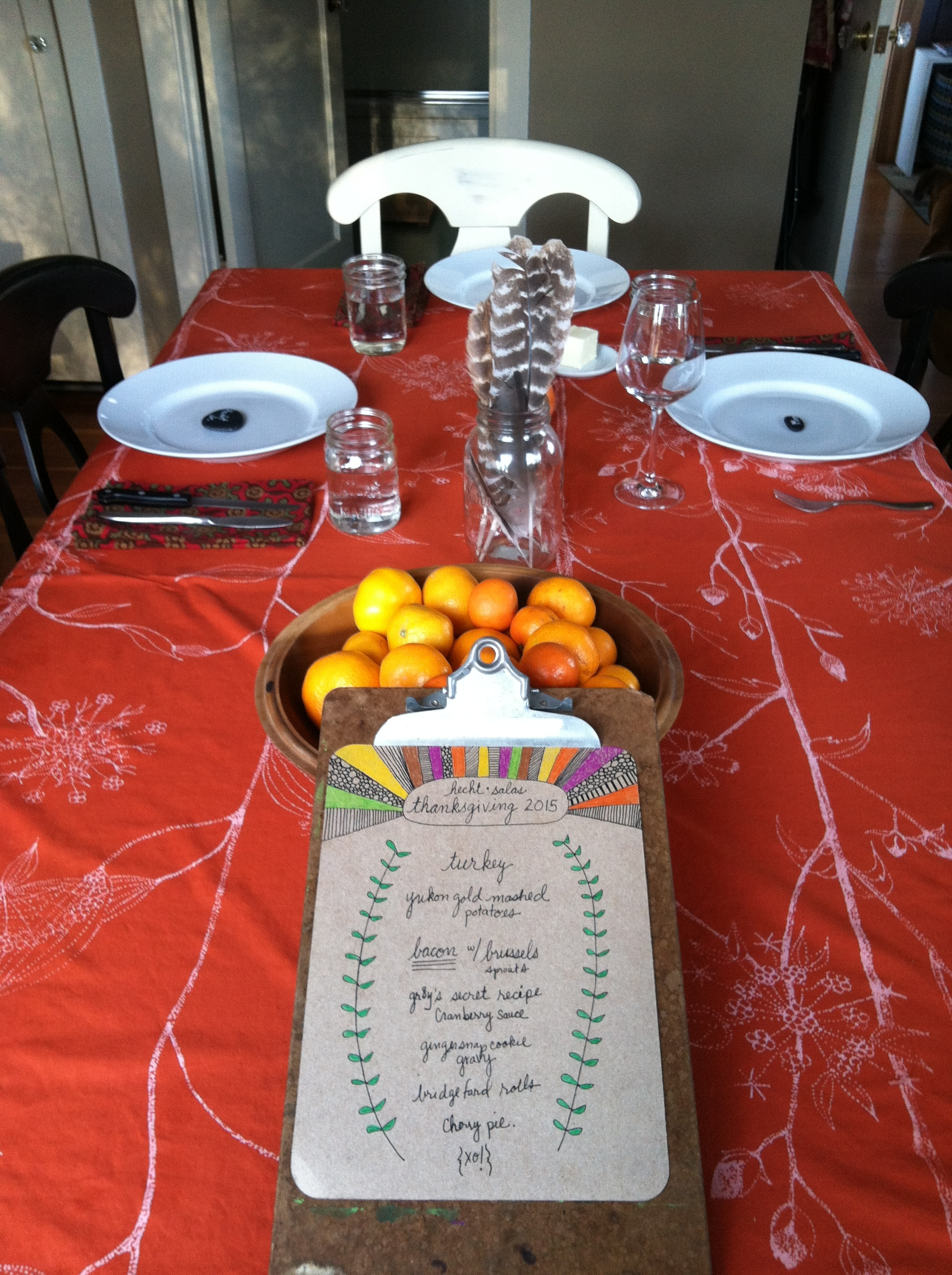 Our sweet + simple table for Thanksgiving 2015
